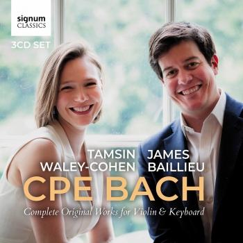 Cover CPE Bach: Complete Original Works for Violin and Keyboard