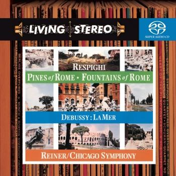 Cover Respighi: Pines of Rome; Fountains of Rome & Debussy: La mer