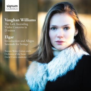 Cover Vaughan Williams: The Lark Ascending - Violin Concerto in D minor - Elgar: Introduction and Allegro - Serenade for Strings