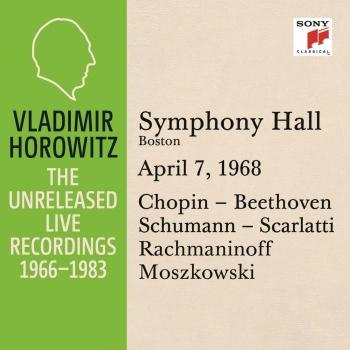 Cover Vladimir Horowitz in Recital at Symphony Hall, Boston, April 7, 1968