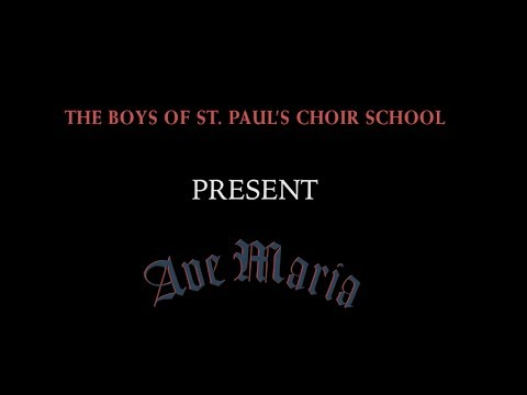 Video Trailer for Ave Maria (new album) by The Boys of St. Paul's Choir School-Harvard Square
